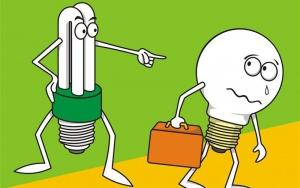 جایگزینی لامپهای رشته ای معمولی با لامپهای کم مصرف